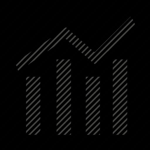 financial, graph, stock, success icon