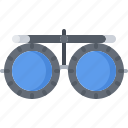 consumables, glasses, instrument, lenses, medical, medicine, oculist, tool icon
