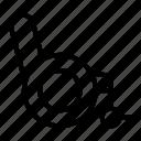 chair, medical, wheel chair icon
