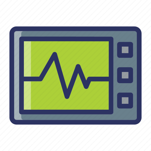 heart rate, medical, monitor, rate icon