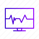 beat, ecg, heart, lcd, pulse, rate icon