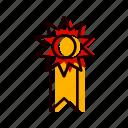 achievement, lcd, reward, ribbon, winner icon
