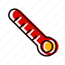 fever, lcd, medical, temperature, thermometer icon