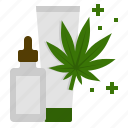 cannabis, cream, health, lotion, marijuana, medical, use icon