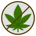allowance, cannabis, illegal, marijuana, no, weed icon