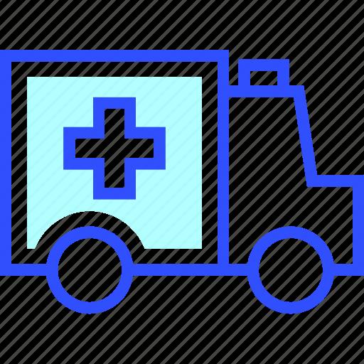 ambulance, emergency, health, hospital, medic, medical, siren icon