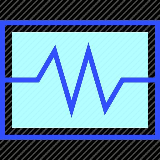 cardiogram, health, hospital, medic, medical icon