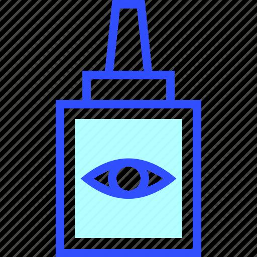 drops, eye, health, hospital, medic, medical icon