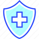 health, hospital, medic, medical, protection, safe icon