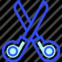health, hospital, medic, medical, scissors icon
