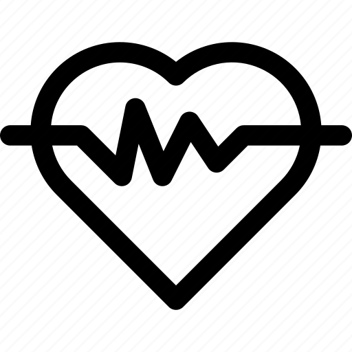 heart, heart rate, hospital, love, medic, medical, outline icon
