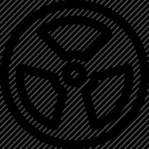 alert, medic, medical, outline, poison, raditation, raditation icon icon