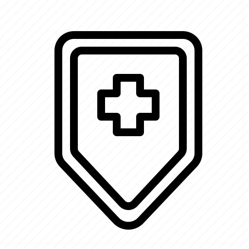 health, hospital, medical, medicine, protection, shield, treatment icon