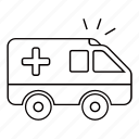 ambulance, car, emergency, health, healthcare icon