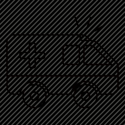 ambulance, car, emergency, health, healthcare icon