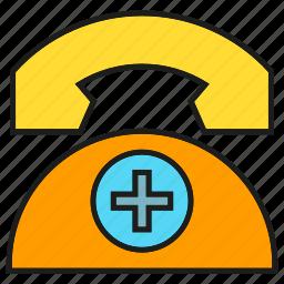 call, care, emergency, medical, phone, telephone, urgency icon