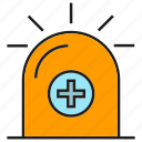ambulance, crisis, emergency, light, medical, siren icon