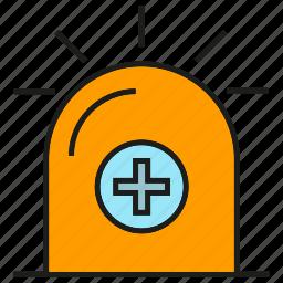 ambulance, crisis, emergency, light, medical, siren icon
