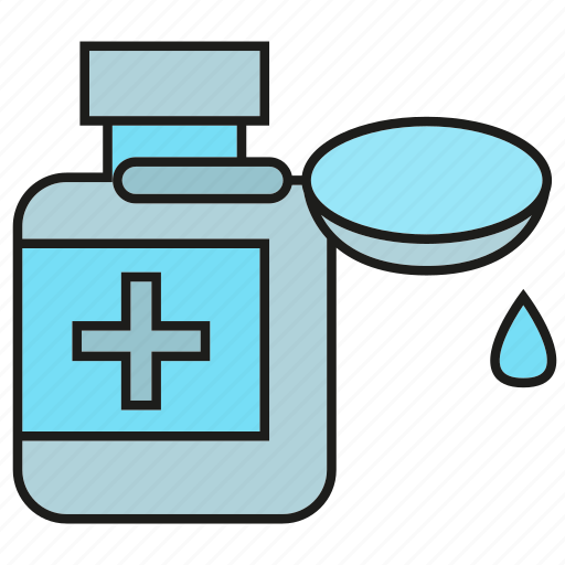 bottle, drug, health care, medicine, pharmacy, remedy, spoon icon