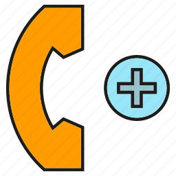 call, communication, contact, emergency call, health care, medical, phone icon