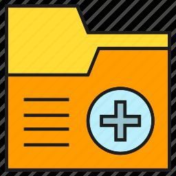 data, file, folder, medical, medical record icon