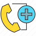 call, communication, contact, emergency, medical, phone, urgency icon