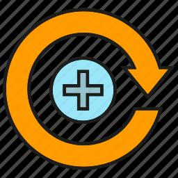 arrow, health care, medical icon