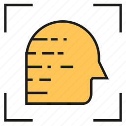diagnosis, head, human, identification, scan icon
