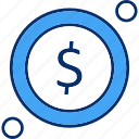 coin, dollar, money