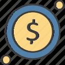 coin, dollar, medical service, money