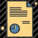 document, file, medical service, pie