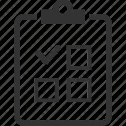 checklist, medical list, medical test, tasks icon