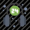 headphone, medical, operator, service, supporter