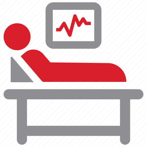 cardiogram, medical, patient, treatment icon