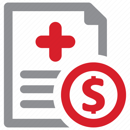 bill, cost, medical, payment icon