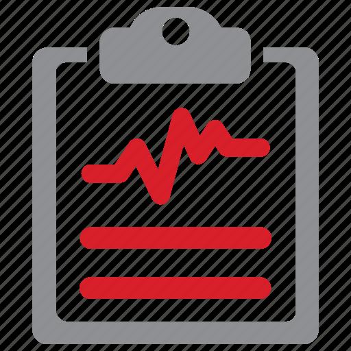 cardiogram, diagnosis, medical, test icon