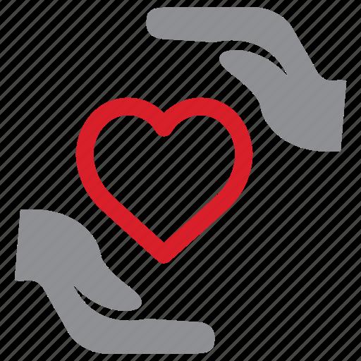 care, health, heart, insurance icon