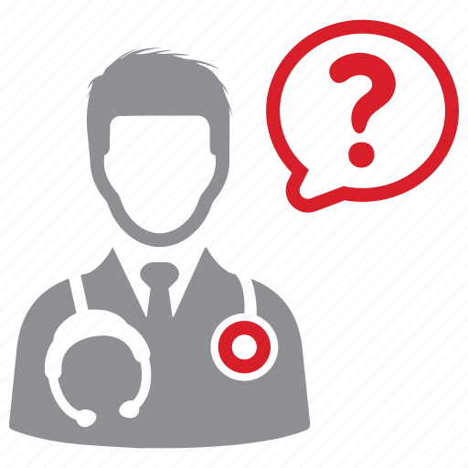 doctor, health, medical, question icon
