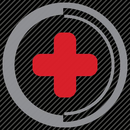 care, cross, health, medical icon