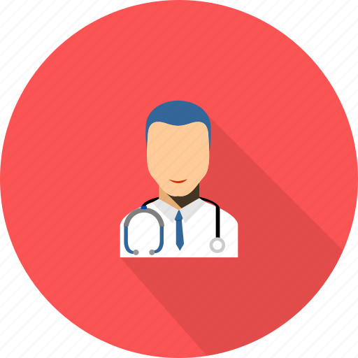 doctor, male, medical, stethoscope icon