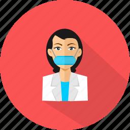 doctor, female, healtcare, medical icon