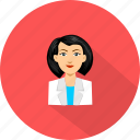 female, medical, nurse icon