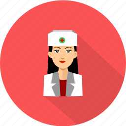 female, medical, nurse icon