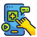 application, healthcare, medical, phone, technology icon