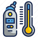 digital, healthcare, medical, technology, thermometer, tool icon