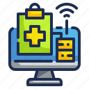 computer, health, healthcare, medical, online, technology icon