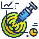 healthcare, medical, medicine, precise, precision, syringe icon