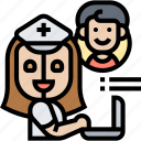 medicine, consultant, chatbot, online, service icon