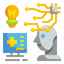 artificial, artificial intelligence, healthcare, intelligence, medical, robotic, technology icon