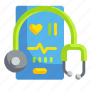 doctor, healthcare, medical, stethoscope, technology icon